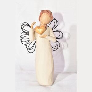 مجسمه فرشته دلدار طلایی کد 56