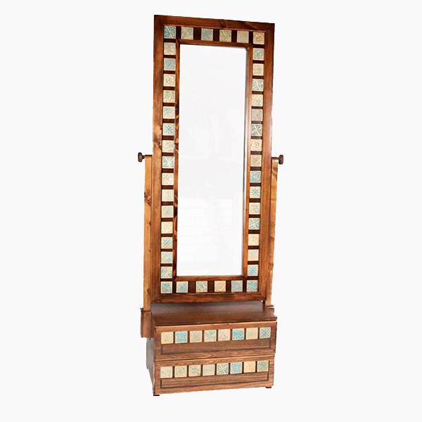 آینه 2 کشو طلایی کد 2286