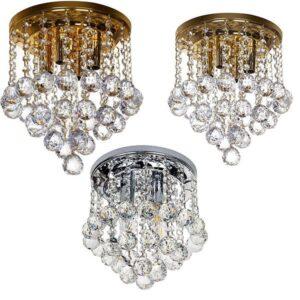 روشنایی سقفی کریستال مناسب برای اتاق خواب، هال و آشپزخانه